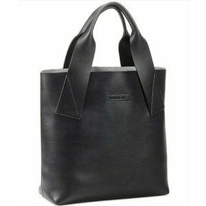 Kenneth Cole Logo Embossed Black Tote